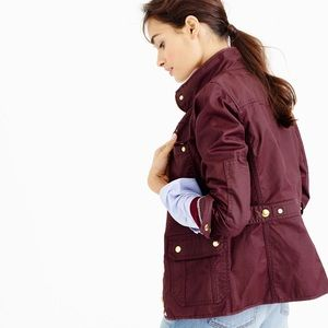 J. Crew burgundy Downtown Field Jacket